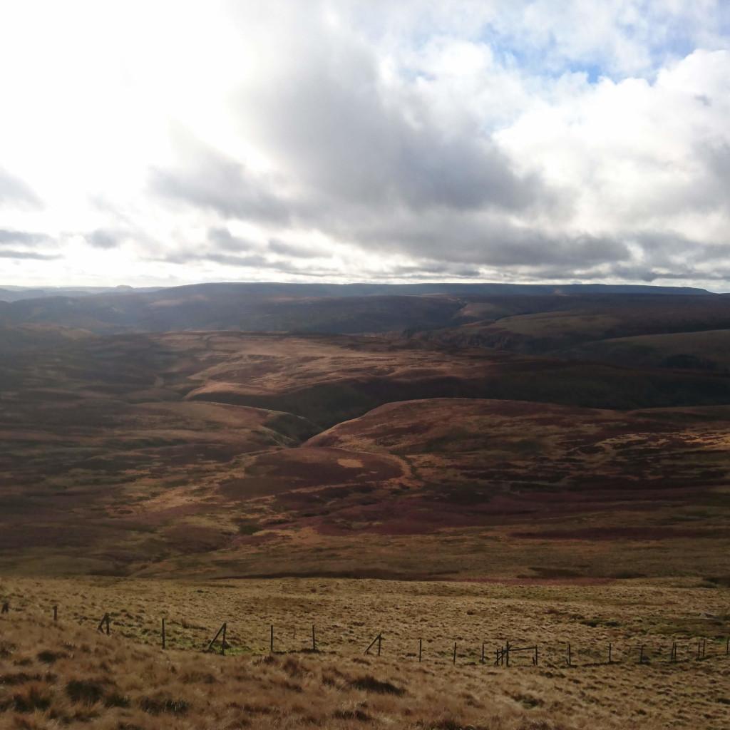 Moody landscape across Howden Moor