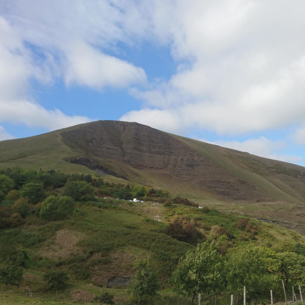 Mam Tor landslide on a sunny day