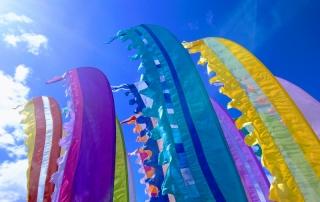 Colourful festival flags at Endure24 Leeds