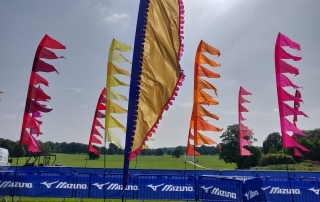 Festival flags of Endure24 Leeds 2019 sponsored by Mizuno