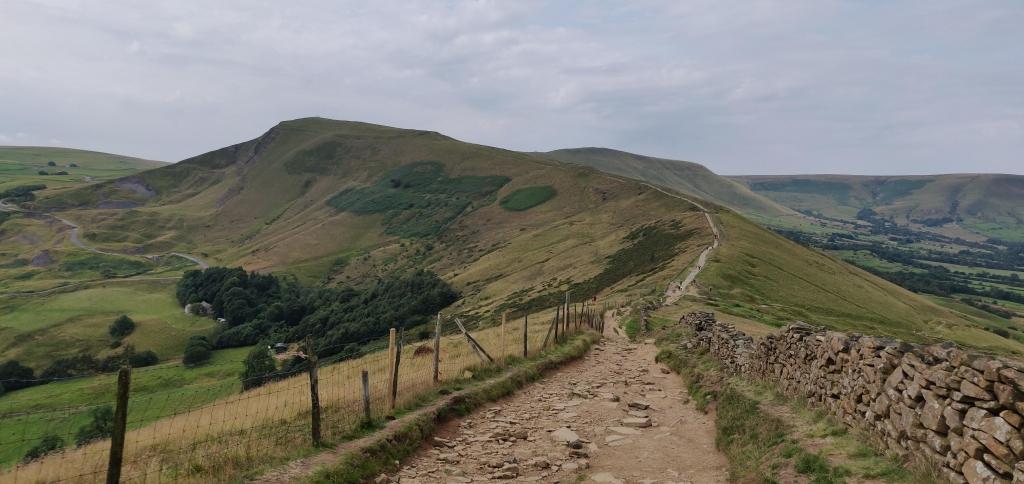 On The Great Ridge, Peak District looking towards Mam Tor