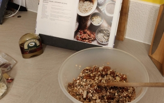 All the ingredients to make the granola