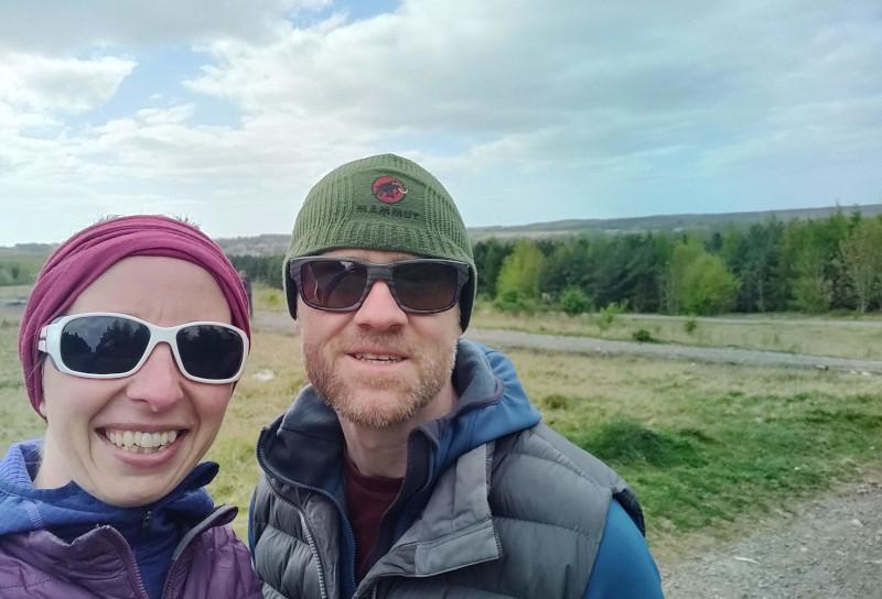 Gem and Kial on local walk near Edlington