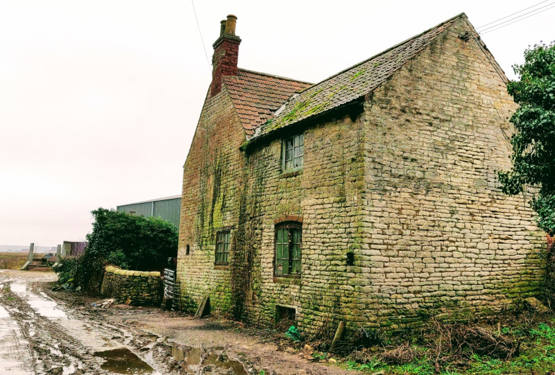 derelict building at Low Farm